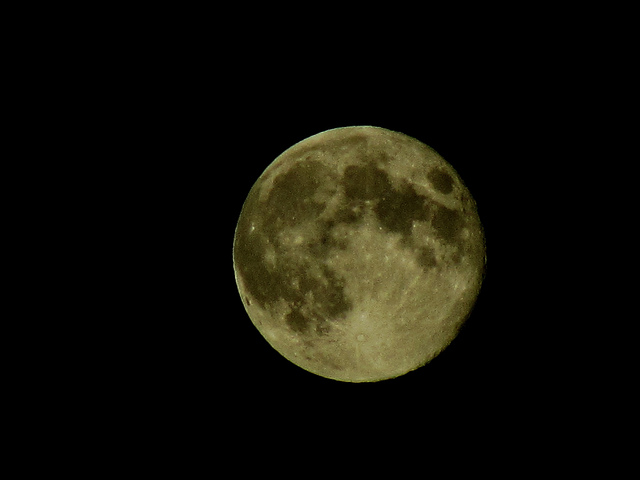 La luna fotografío