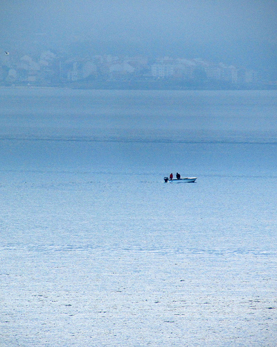 Two Men on a Boat by JoseAngelGarciaLanda