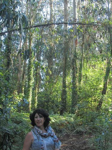 Beatriz muy guapa en el bosque de eucaliptos by JoseAngelGarciaLanda