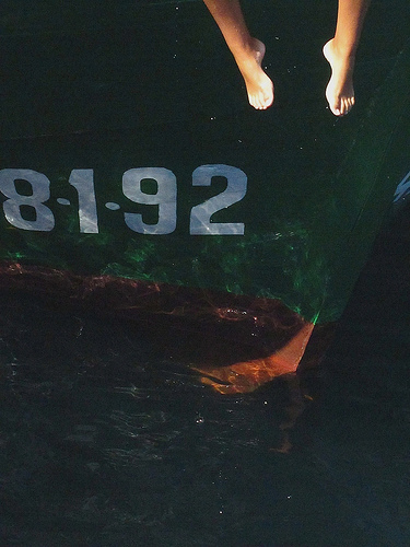 Sitting on the boat in the bay by JoseAngelGarciaLanda