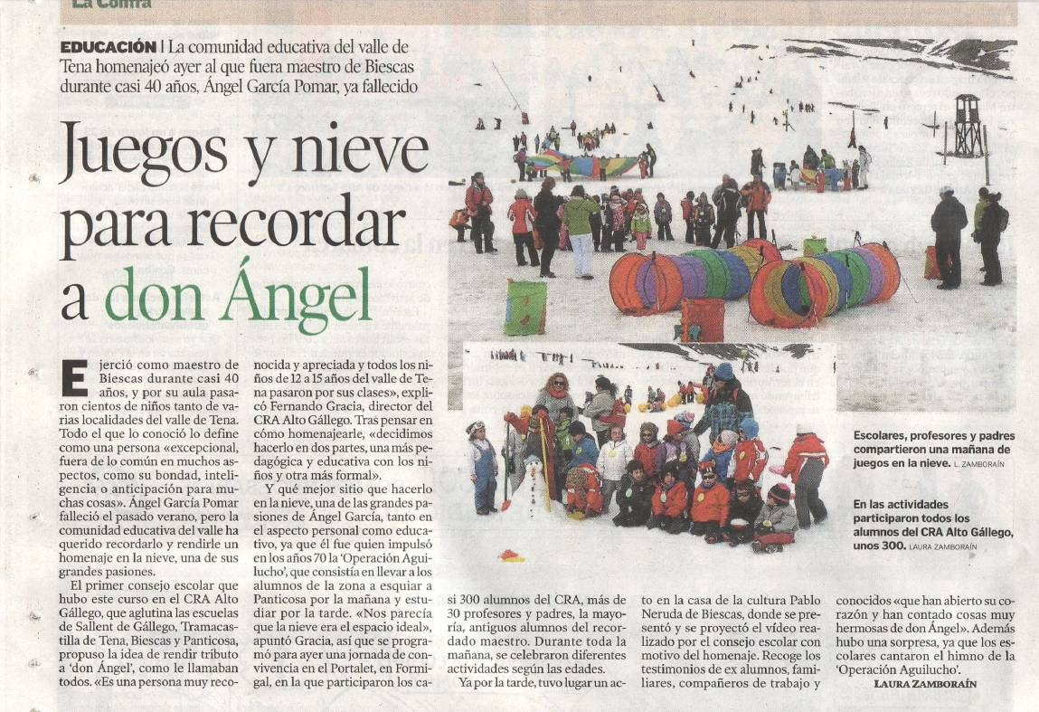 homenaje a don Angel