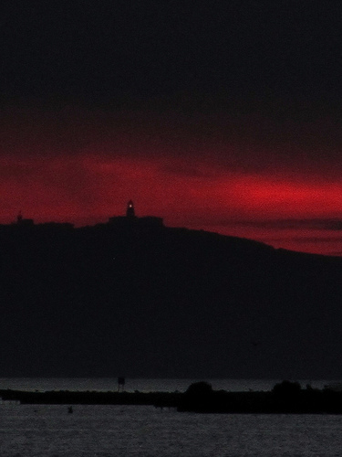 Lighthouse and red evening 2 by JoseAngelGarciaLanda