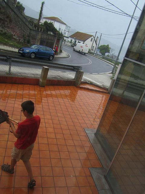 Saliendo un día de lluvia