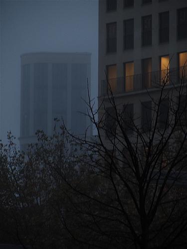 Niebla en la Plaza Aragón by JoseAngelGarciaLanda