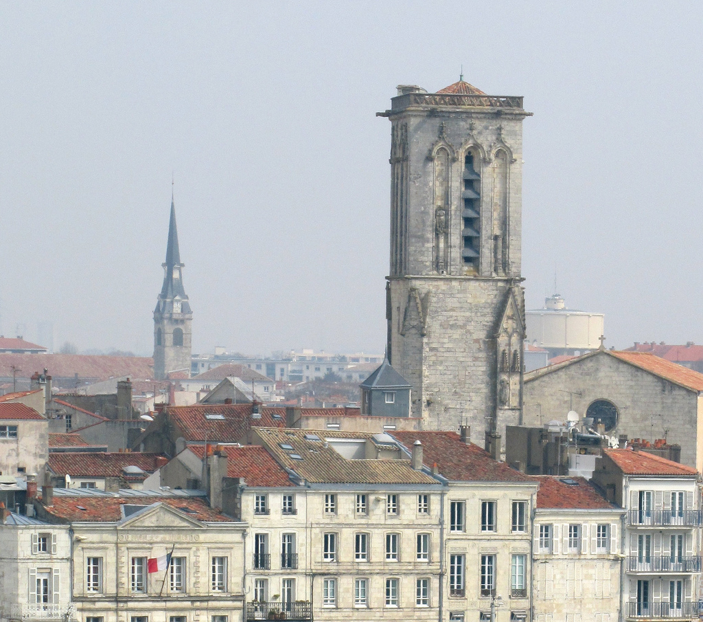 Dibujo de La Rochelle desde la torre
